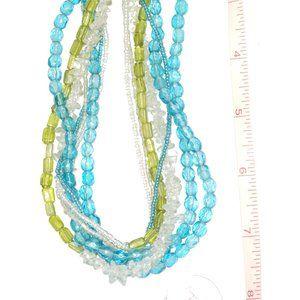 Beautiful Aqua color beaded necklace.